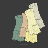 Vector background with dresses. Stock Images