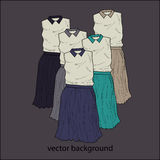 Vector background with dresses Royalty Free Stock Image