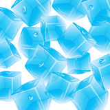 Vector background with droplets of ice. Vector seamless background with ice cubes and drops Stock Image