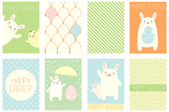 Vector background with Easter bunny Royalty Free Stock Photo