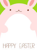 Vector background with Easter bunny Royalty Free Stock Images