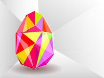 Vector background with Easter egg crystal. Royalty Free Stock Photo