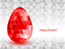 Vector background with Easter egg crystal. Royalty Free Stock Image