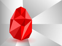 Vector background with Easter egg crystal. Stock Photography