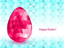 Vector background with Easter egg crystal. Stock Image