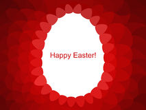 Vector background with Easter egg. Happy easter. Royalty Free Stock Images