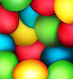 Vector background with Easter eggs Stock Photos