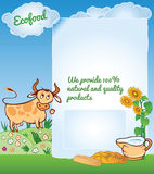 Vector Background for Ecology Food Stock Image