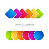 Vector background with elements Royalty Free Stock Photo