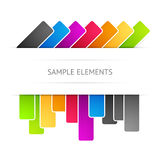 Vector background with elements Stock Photos