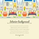 Vector background with elements furniture Stock Images