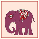 Vector background with elephant Stock Photo