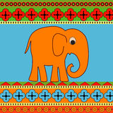 Vector background with elephant. Royalty Free Stock Photos