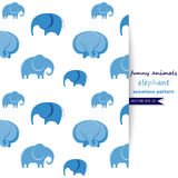 Vector background with elephant Stock Photos