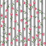 Vector background. Exotic plants on a striped background. vector illustration
