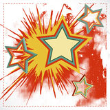 Vector background of explosion star. Stock Photography