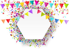 Vector background of falling tiny confetti pieces and colored pe Stock Image