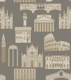 Vector background with famous Italian landmarks Royalty Free Stock Image
