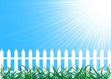 Vector background with fence Royalty Free Stock Photo