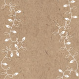Vector background with festive garlands and place for text on kraft paper.  Royalty Free Stock Images