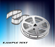 Vector background with  film Stock Image