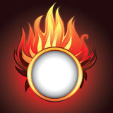 Vector background with fire stock illustration