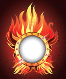 Vector background with fire Stock Photography