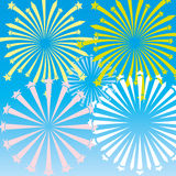 Vector background. Fireworks. Stock Images