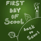Vector background. First day of scool background Stock Image
