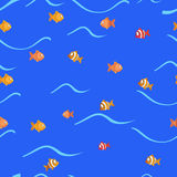 Vector background with fish swimming Stock Image