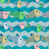 Vector background with fishes. Royalty Free Stock Photography