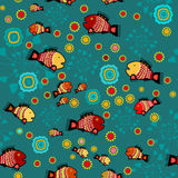Vector background with fishes Stock Photography