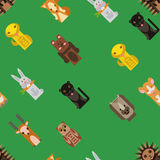 Vector background with flat animals toys Royalty Free Stock Photography
