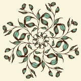 Vector background with floral mandala Royalty Free Stock Images