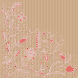 Vector background with floral pattern. Vector floral abstract pattern on a strip background Stock Photos