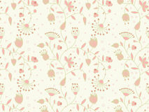 Vector background with floral pattern. Vector pastel seamless background with floral pattern Stock Photography