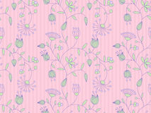 Vector background with floral pattern. Royalty Free Stock Photo