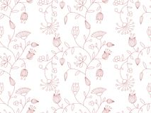 Vector background with floral pattern. Royalty Free Stock Photography