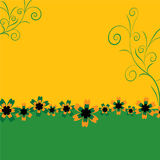 Vector background, with flower. Vector background, with different flower Stock Photos