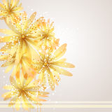 Vector background with flower Royalty Free Stock Images
