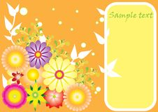 Vector background with flower motives Royalty Free Stock Photo