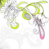 Vector background with flowers. Universal template for greeting card, web page, background Royalty Free Stock Photos