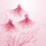 Vector background with flowers Royalty Free Stock Photography