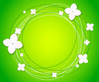 Vector background with flowers. Abstract background with circles and flowers stock photography