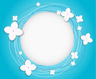 Vector background with flowers. And circles vector illustration