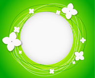 Vector background with flowers. And circles stock illustration