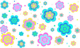 Vector background with flowers. Vector background with colored bright colors vector illustration