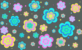 Vector background with flowers. Vector background with colored bright colors royalty free illustration