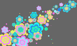 Vector background with flowers. Vector background with colored bright colors stock illustration