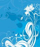 Vector background with flowers in grunge style Royalty Free Stock Images
